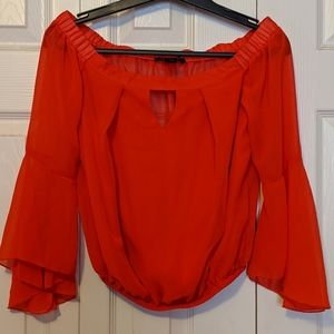 Tops - True Red Bell Sleeves Blouse